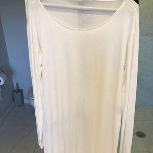 Calypso Tunic white long sleeve slits